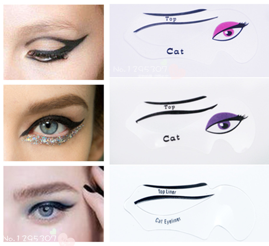 Winged Eyeliner Stencil GuideQuick No Mess Perfect Cat Liner Smokey - Eyeshadow template