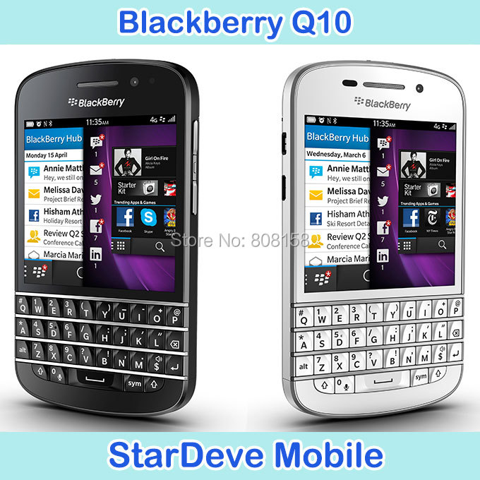 Hot Sale Blackberry Q10 Original unlocked Cell Phone GSM 4G Network 8.0MP camera Dual-core 2G RAM 16G ROM Free shipping In Stock(China (Mainland))