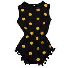 Black Infant Bodysuit For Baby Boys Girls New Design Baby Toddler Clothing Bodysuits Sleeveless Bodysuit Baby Dots Design(China (Mainland))