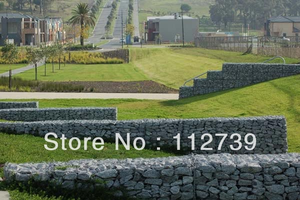 Around the House Gabion Box Protection The Lawn 80*100mm Opening Galvanized Wire(China (Mainland))