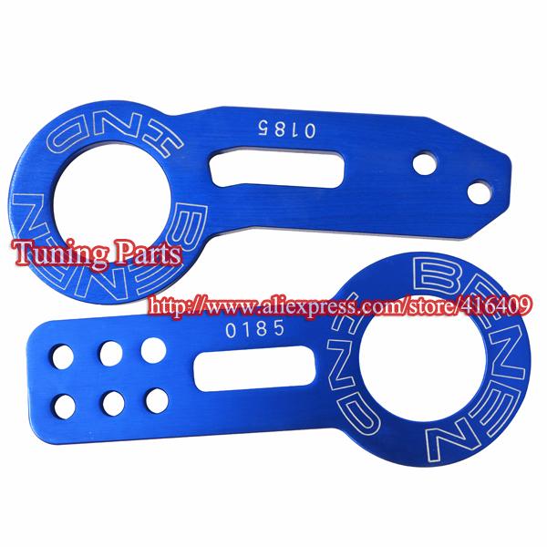 ANODIZED ALUMINUM CNC JDM TOW HOOK FRONT & REAR SET TOWING RACING EF EG EK(China (Mainland))