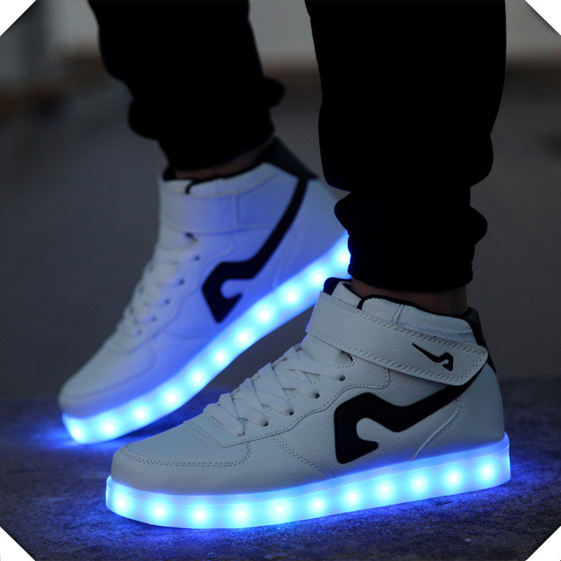 Casual LED solid color mens shoes zapatos hombre lovers casual shoes for adults 2016 NEW LED Breathable fashion women shoes<br><br>Aliexpress
