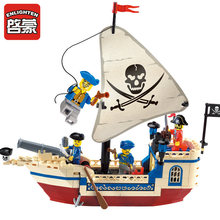 Enlighten 304 Pirates Of The Caribbean Brick Bounty Pirate Ship Building Blocks Christmas Gifts for kids(China (Mainland))