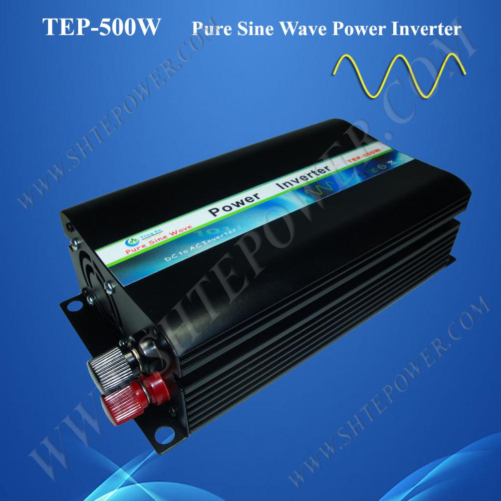 Hot Sale 500W Pure Sine Wave Solar Power Invertor dc 12v/24v to ac 110v/120v(China (Mainland))