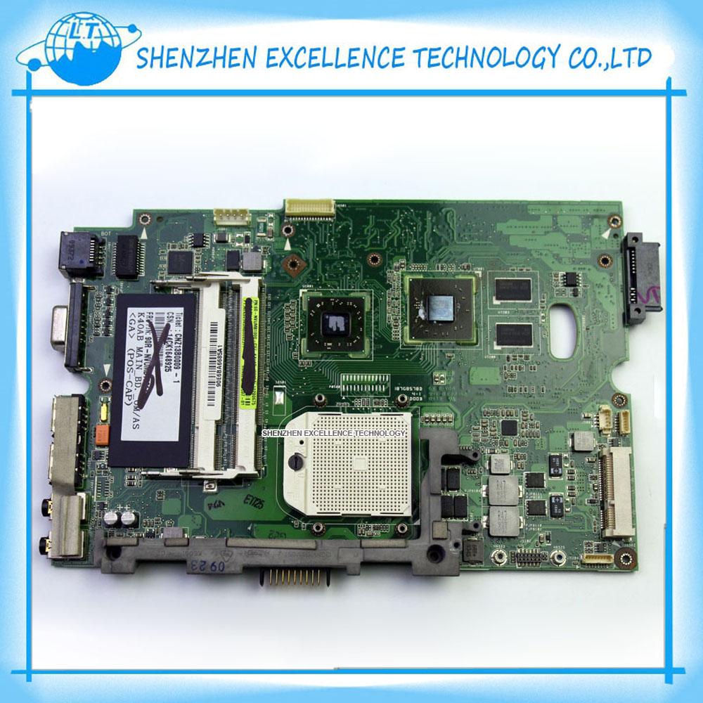 Фотография In Stock! K40AB Series laptop motherboard for Asus K50AB X5DAB K40AF K40AD K50AF K50AD X8AAF X5DAF 100% Full Tested
