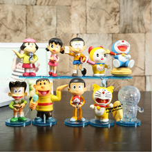 Cartoon Doraemon Nobi Shizuka Dorami PVC Model Action figure toys Christmas Gifts kids doll