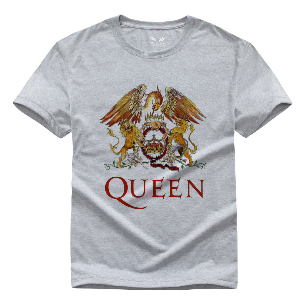 Classic Rock Band Queen T Shirt Men Cool Printed T-shirt 2016 Fashion Summer Short Sleeve Cotton Heavy Rock Tops(China (Mainland))
