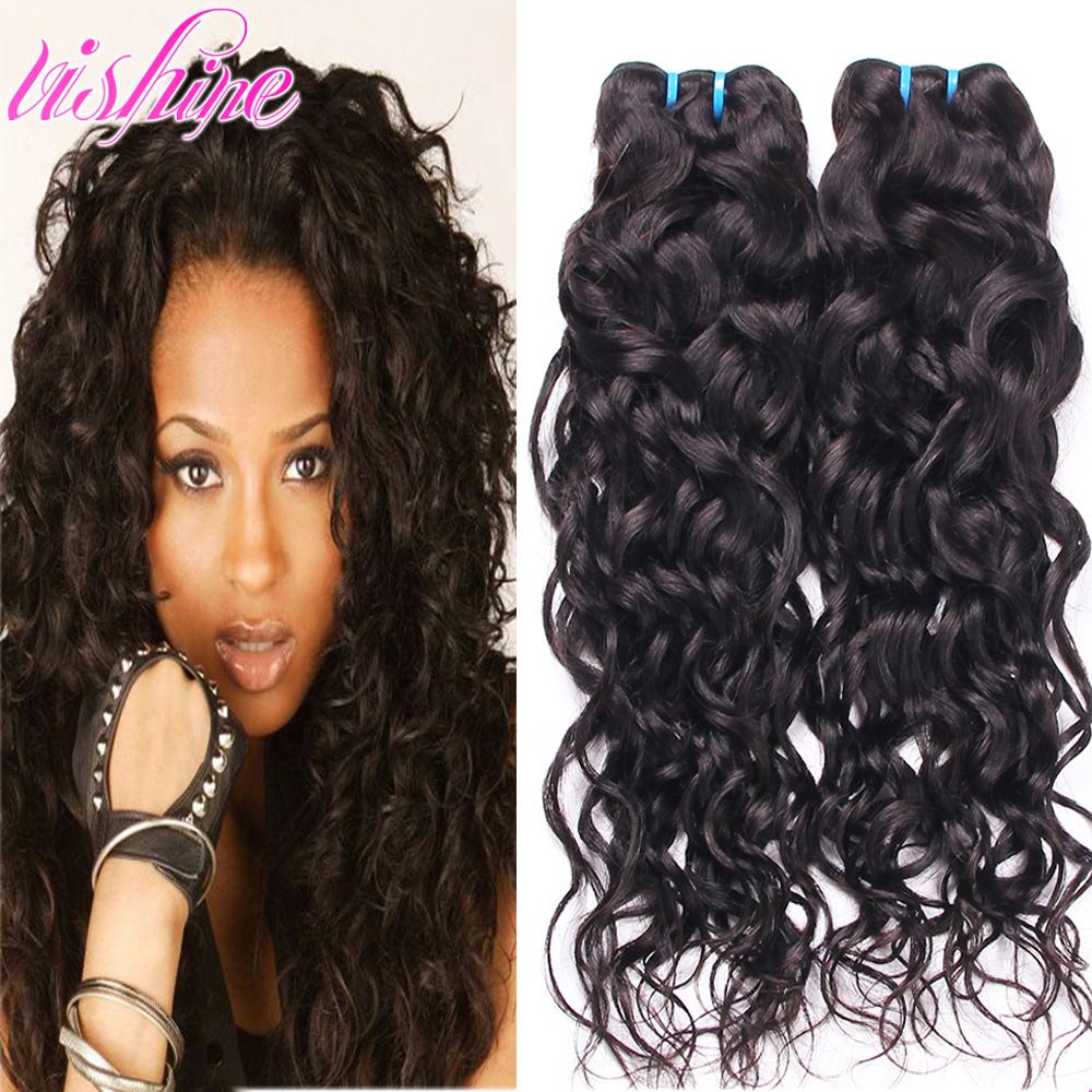 Brazilian Water Wave Brazilian Virgin Hair Ocean Wave 2pc Lot Brazillian Curly Wet and Wavy Human Hair Bundles Ali Moda Hair 1b<br><br>Aliexpress