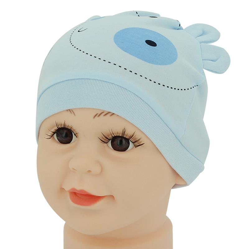 Blue Cute Cartoon Cotton Warm Hat Cap for Baby Child(China (Mainland))