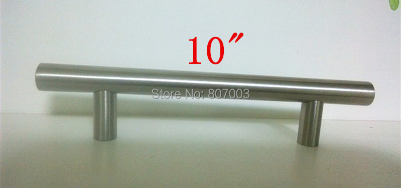 "(Diameter 12mm,Length:250mm) 10"" Furniture Hardware Kitchen Cabinet Handle, Bar Pull Handle Stainless Steel T Handles(China (Mainland))"
