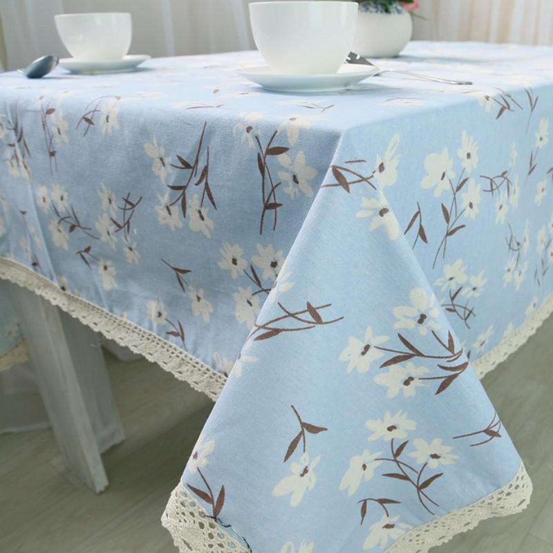 2 Colors Cotton Linen Round Table Cloth Nappe New arrival Pastoral Style Flowers Print Tablecloth Wedding Mantele Table Cover(China (Mainland))