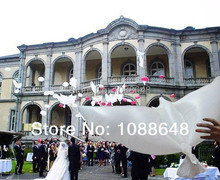Free shipping 150pcs/lot high quality inflatable  helium dove balloon white doves wedding balloon decoration pe