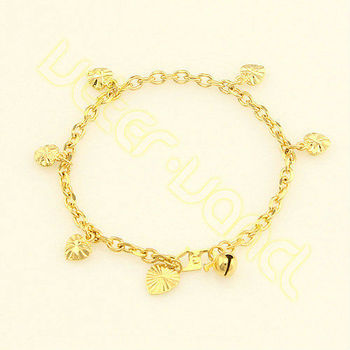 Free Shipping New Arrival Rolo Chain Anklets Women Girls Baby 4mm 18.5cm Gold Filled 18K Gold Filled Anklets Link Charm ZL31