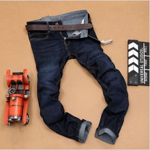 Men's designer brand plus size Jeans pants 2016 Spring Fashion Pure cotton stripe Straight jeans Casual slim denim overalls Men(China (Mainland))