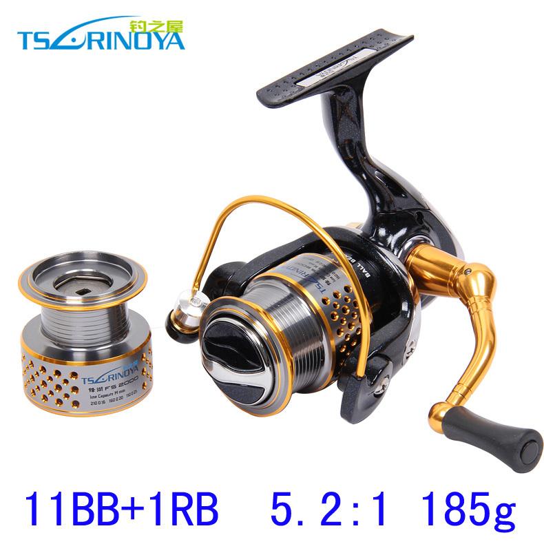 12BB 5.2:1 Trulinoya 1000 2000 2 Spools Spinning Fishing Reel Lure Reels Rock Reel Full Metal Wheels Pesca Fishing Tackles <br><br>Aliexpress