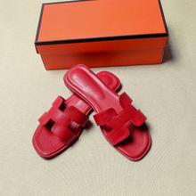 Женские летние сандалии с вырезами, женские роскошные брендовые сандалии, обувь на плоской подошве хорошего качества, яркие цвета, шлепанцы...(China)