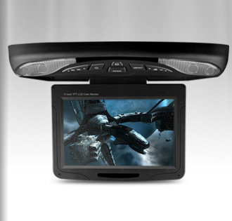 """11.3"""" Black Color Car Roof DVD Roof Monitor DVD Flip Down Car DVD with Built in IR/FM Transmitter (Grey & Beige Optional)(China (Mainland))"""