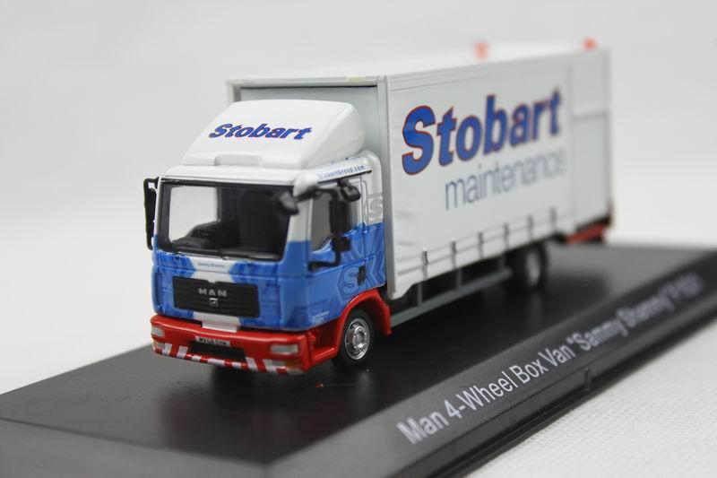 ATLAS One seventy-six Man 4-Wheel Box Van F1521 Stobart Trucks Model Favorites Model(China (Mainland))