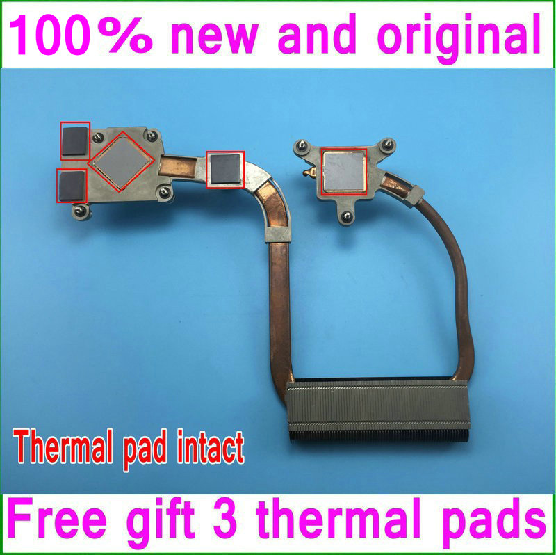 Gifts 3 thermal pads 80%New and original CN-0Y152D Y152D Cooling heatsink For Dell Studio XPS 1640 cooler for Intel