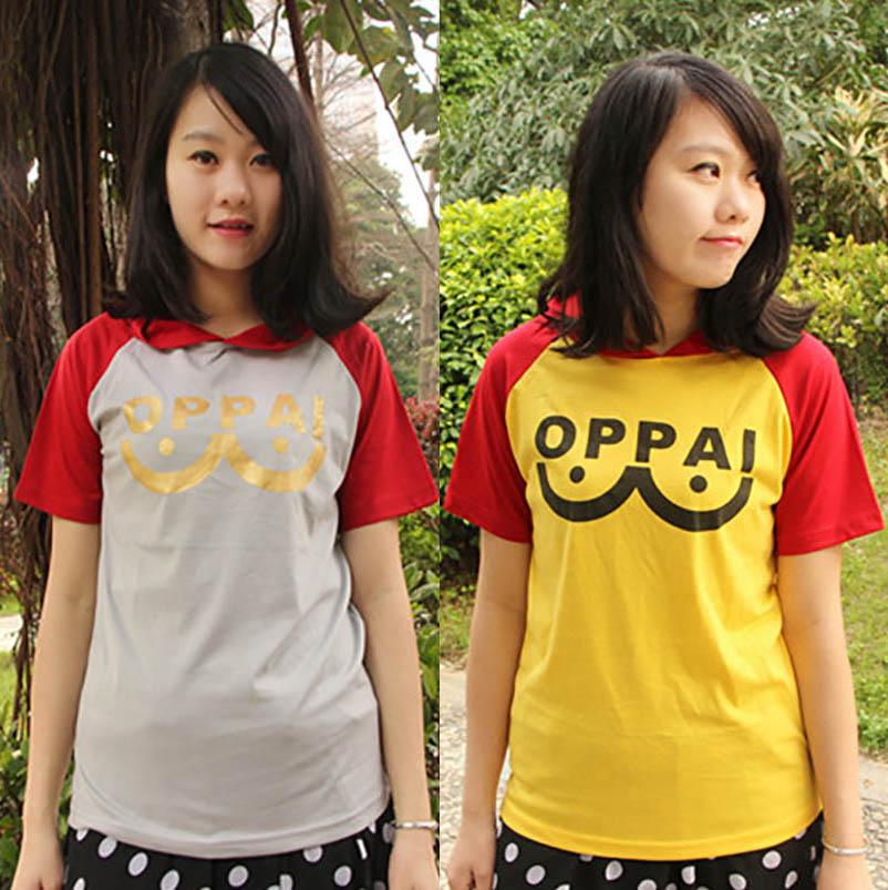 2 colors Unisex One Punch Man Oppai casual t shirt 2016 t-shirt mens cotton tshirt women clothing anime summer tops tees(China (Mainland))
