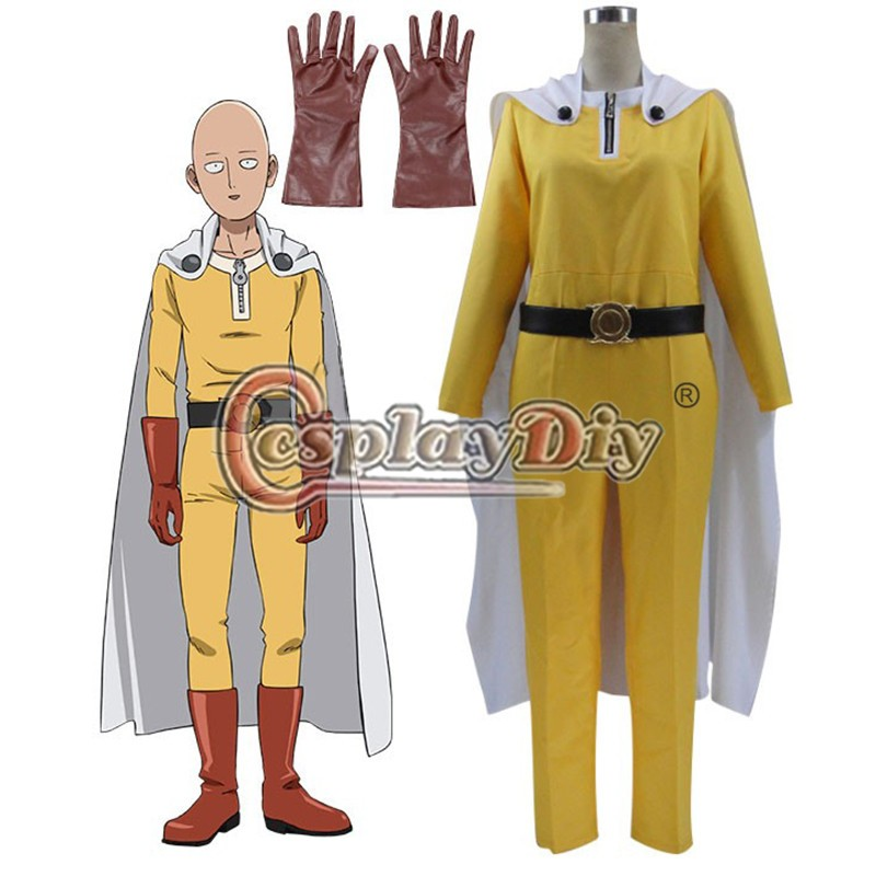 One Punch Man Saitama Caped Baldy Hagemanto Cosplay Costume For Halloween Carnival Custom MadeОдежда и ак�е��уары<br><br><br>Aliexpress