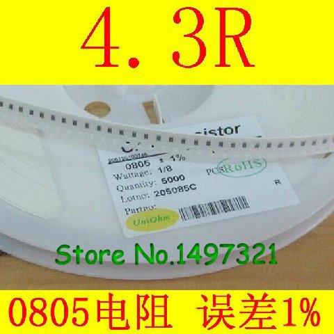 0805 chip resistor 4.3R error of 1% 100 = 1 yuan 5000 / plate = 30 yuan Penhold(China (Mainland))