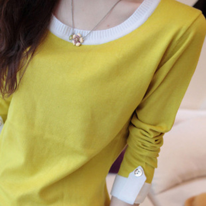 autumn and winter color Hepburn sweater women slim size head long warm female(China (Mainland))