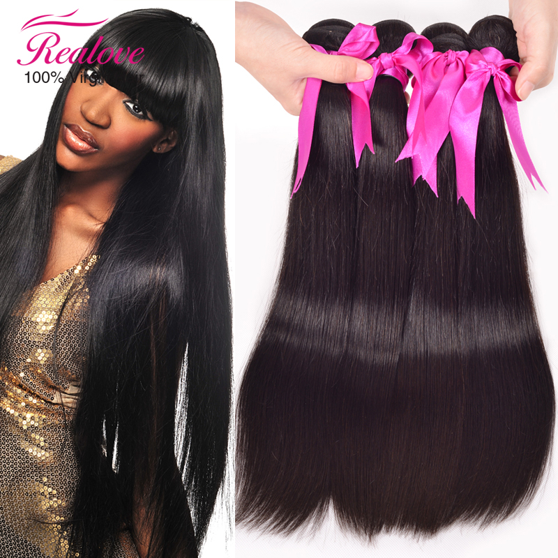 "Гаджет  Realove Hair Weaves 3pc Malaysian Hair Straight 8""-30"" Cheap Malaysian Hair Extension Real Human Hair Weave Straight For Sale None Волосы и аксессуары"