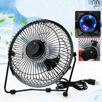 Mini Portable High Velocity Personal Desk/Table Fan With USB Cable Black