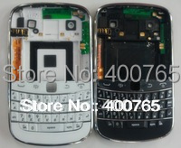 100% Top Quality for Blackberry Bold 9900 Black White OEM Full Housing Case Back Cover+keyboard+Parts W/ door by AM DHL EMS(1PC)
