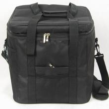 Waterproof Portable Fabric Thermal Lunch Cooler Bag Black Large Volume Men Outdoor Picnic Storage Bag 33L(China (Mainland))