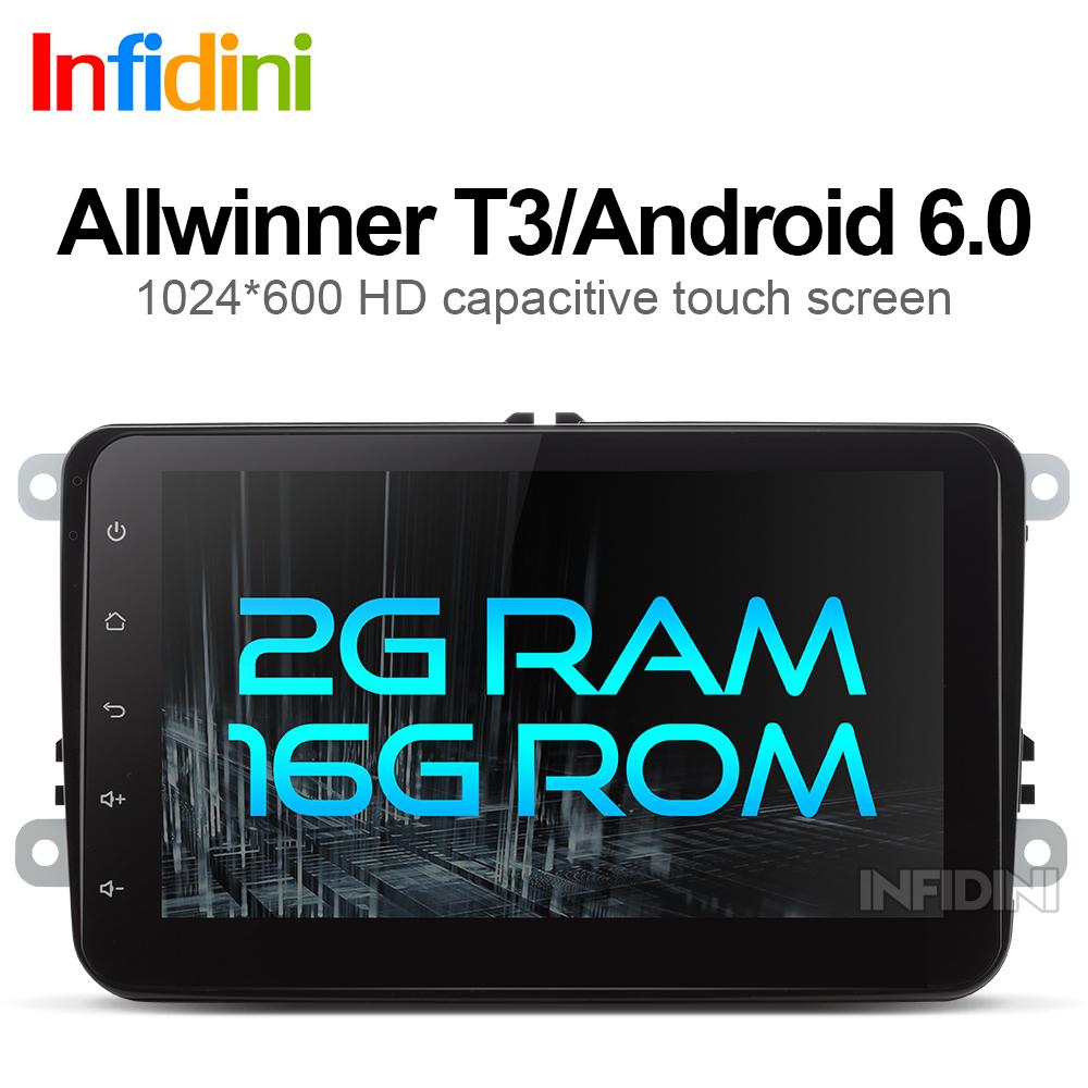 2G+16G android 6.0 car dvd gps navigation for skoda VW volkswagen amarok beetle bora caddy CC EOS jetta polo rabbit sharan gps(China (Mainland))