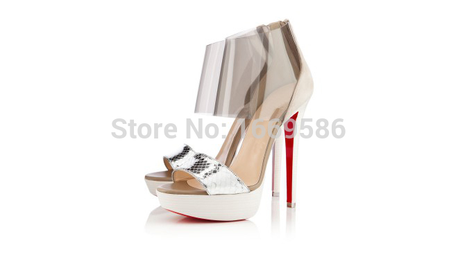 Cicime Womens Fashion Summer High Custom Opened Toe Big Size Sandals Red Bottom High Heels<br><br>Aliexpress