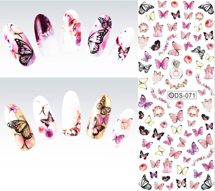 1PCS X Fashion Nails Art Decorations Design Water Transfer Stickers/Decals For Nails Tips Beauty#DS-071(China (Mainland))