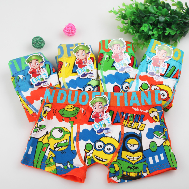 2016 New 5pcs/lot Children Underwear Boy Boxer cueca 3-12T Kids Baby Cartoon Panties Boys Underwear bragas calcinhas infantis(China (Mainland))