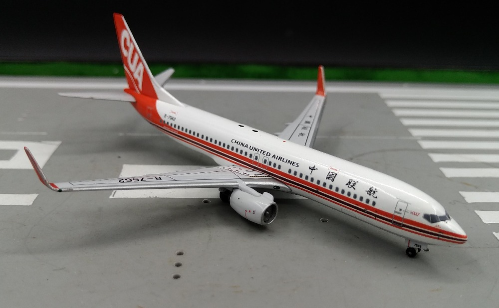 PM 1: 400 China United Airlines Boeing 737-800W B-7562 Alloy aircraft model Favorites Model(China (Mainland))