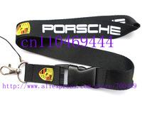 Hot 20 pcs P orsche Car Logo Lanyard/ MP3/4 cell phone/ keychains /Neck Strap Lanyard WHOLESALE Free shipping  C-14