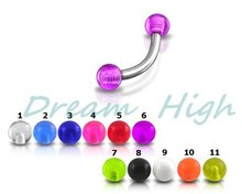 Buy Free Fancy Eyebrow Piercing Eyebrow Ring Body Piercing 31 100 pcs/lot Mixed color Promotional Gift for $20.67 in AliExpress store