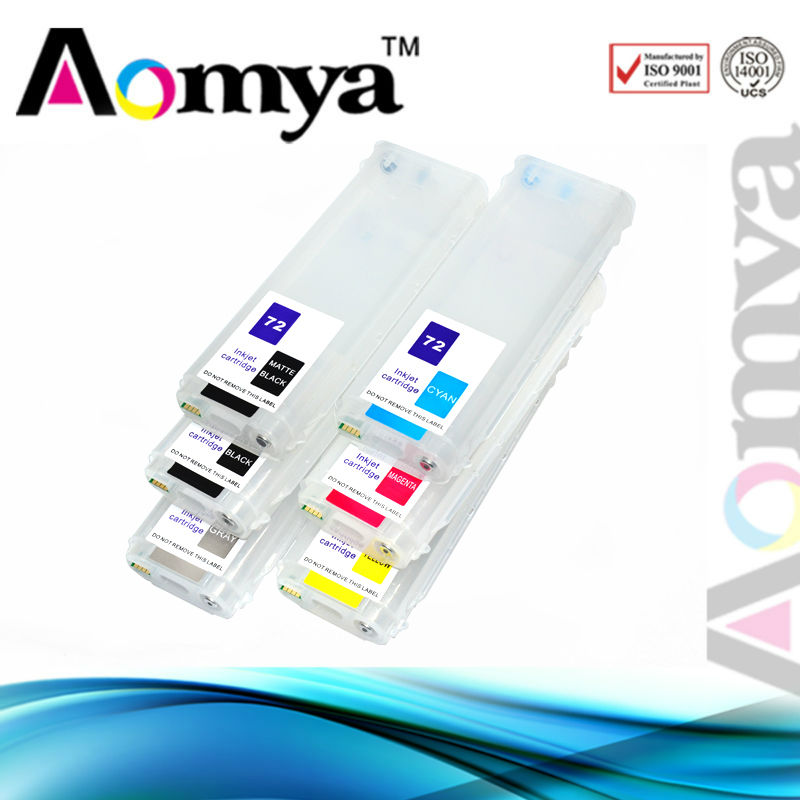 Dye ink for hp 72(C,M,Y,GY) used for HP Designjet T610/T620/T770/T790/T1100/T1120/T1200/T1300/T2300