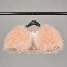 Jancoco Max 2019 Echt Bont Cape Schouderophalen Vrouwen Echt Struisvogelveren Fur Shawl Poncho Fashion Hot Koop One Size S1264(China)