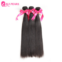 Buy Ali Pearl Hair Unprocessed Brazilian Virgin Hair Straight 8A Hair Weave 3 Bundles Human Hair Natural Black Color 1B Alipearl for $69.28 in AliExpress store