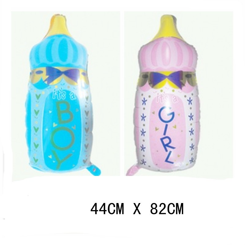 50 pcs cute boy girl bottle helium balloons baby bottle for Baby bottle balloon decoration