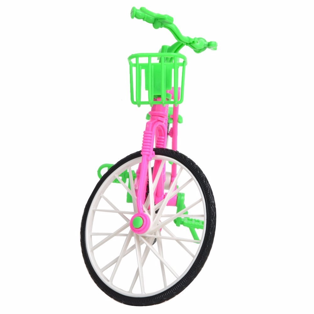 E-TING Stunning Bicycle Removable Bike & Basket Toy Equipment For Barbie Dolls Equipment