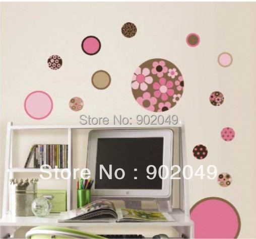New Cute 50x70cm Wholesale dream circle Wall Stickers Wall bedroom TV background stickers KC-8096
