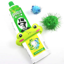 1Pcs Brand New Cartoon Easy Squeezer Toothpaste Tube Dispenser Rolling Holder Cat/Frog/Panda/Pig(China (Mainland))