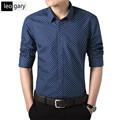 2017 New Brand Shirt Men Polka Dot Printed Shirts Social Long Sleeve Casual Male Shirt Slim