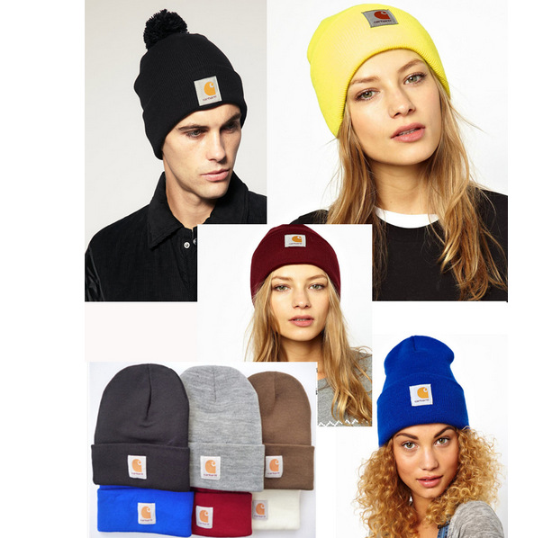 Arrival Skullies Beanies New Carhart knitted cap and winter Mao Xianmao tide male lady set head cap(China (Mainland))