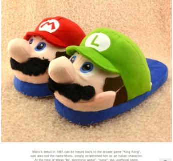 Super Mario Warm Indoor Floor Kids Shoes Winter Children Home Slippers Girls/Boys Panda chinelo 04 - Beauty&Baby Store store