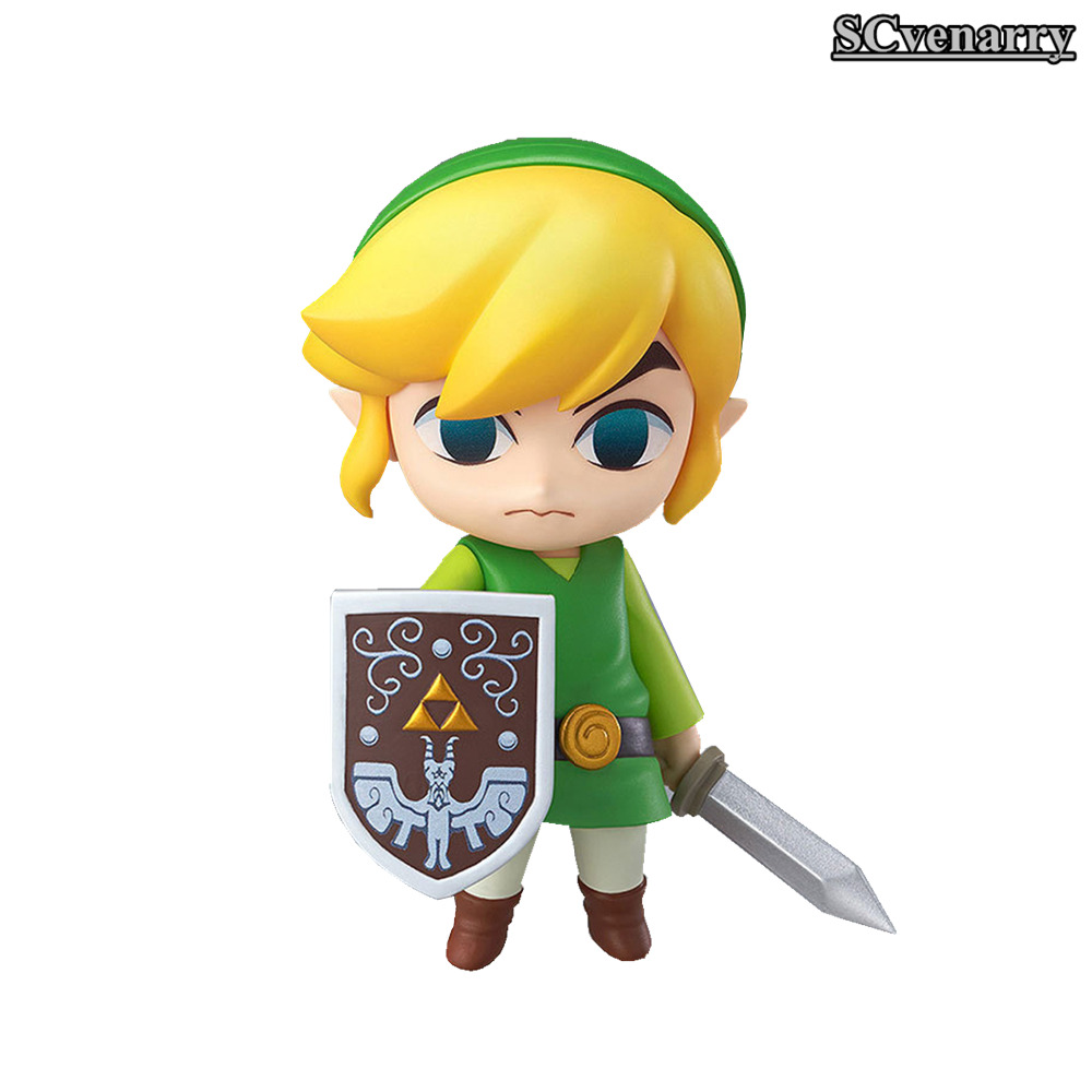 "The Legend of Zelda Nendoroid Link the Wind Waker Ver. #413 PVC Action Figure Collectible Model Toy Christmas Gift 4"" 10cm(China (Mainland))"