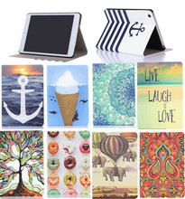NEW Colorful Print 7.9'' Mini Tablet Magnet Leather Case For iPad Mini 2 3 Smart Case Auto Sleep Function +protectors(China (Mainland))